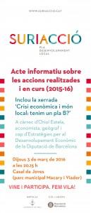 2016 03 03 Cartell acte informatiu Pla de Desenvolupament Local Suriacció