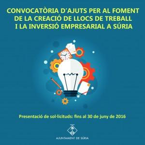 2016 04 Destacat ajuts a la creació de llocs de treball i la inversió empresarial
